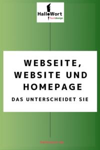 Darin unterscheiden sich Webseite, Website und Homepage