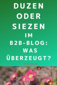 B2B Blog Kundenansprache duzen oder siezen